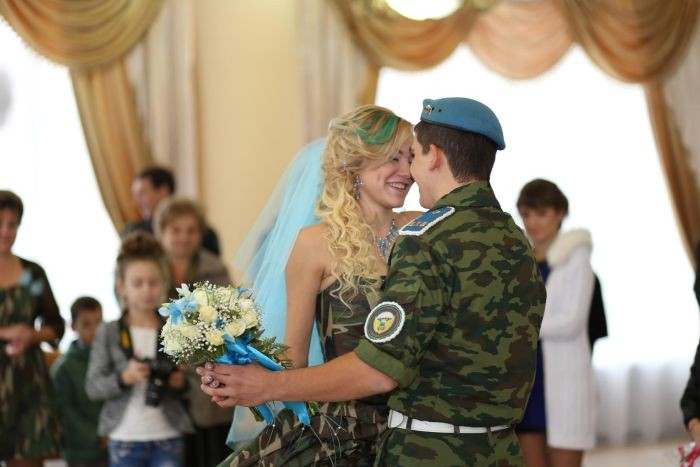 Свадьба в стиле ВДВ (14 фото)