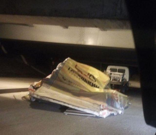 Под «Мостом глупости» в аварию попала еще одна «ГАЗель» (2 фото)