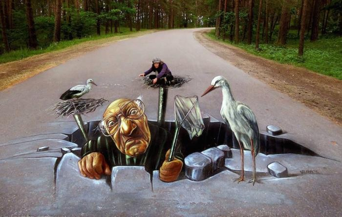 Уличные 3D-рисунки Vera Bugatti (22 фото)