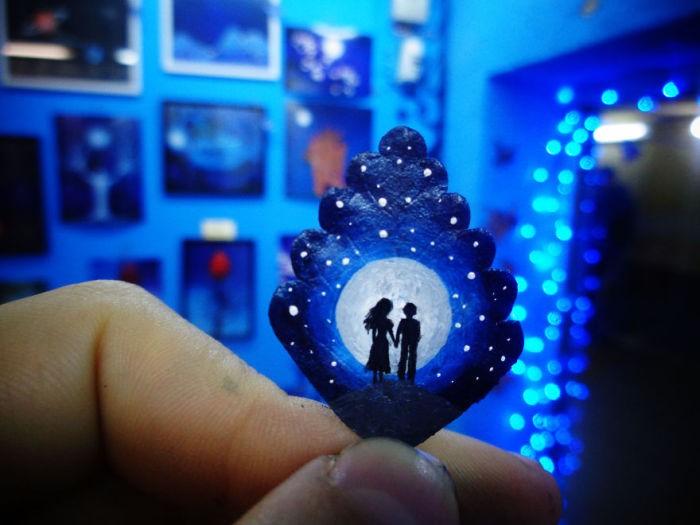 Романтические картины влюблённой пары художников (22 фото)