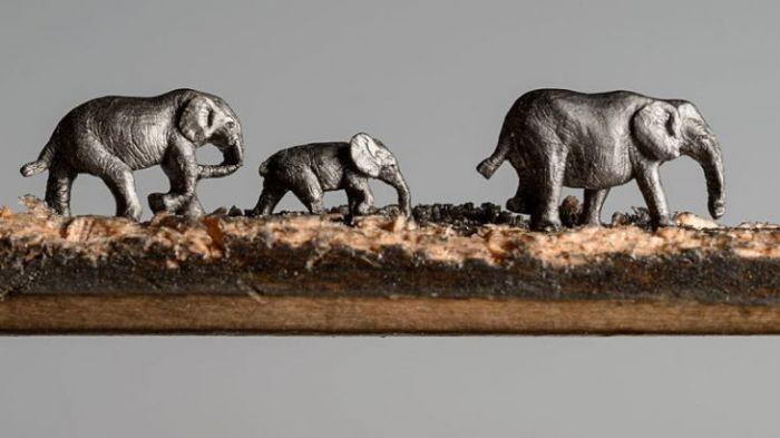 Скульптура из карандаша (9 фото)