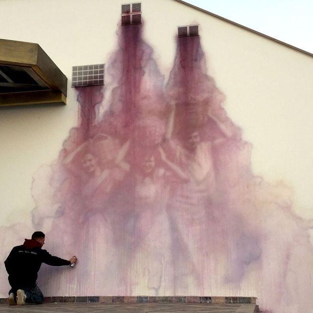 Жутковатые граффити (8 фото)