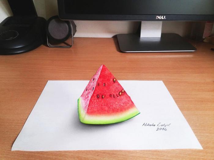 Невероятно реалистичные 3D рисунки (14 фото)