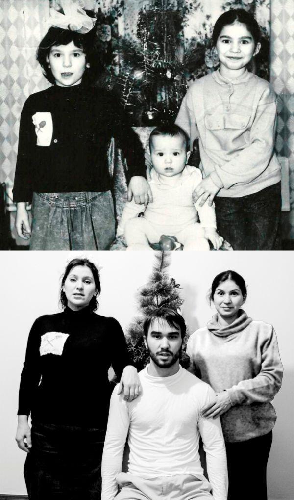 Отличная идея для семейного фотоальбома (12 фото)