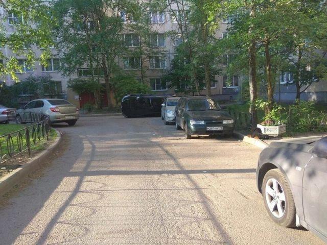 Месть за неправильную парковку (4 фото)