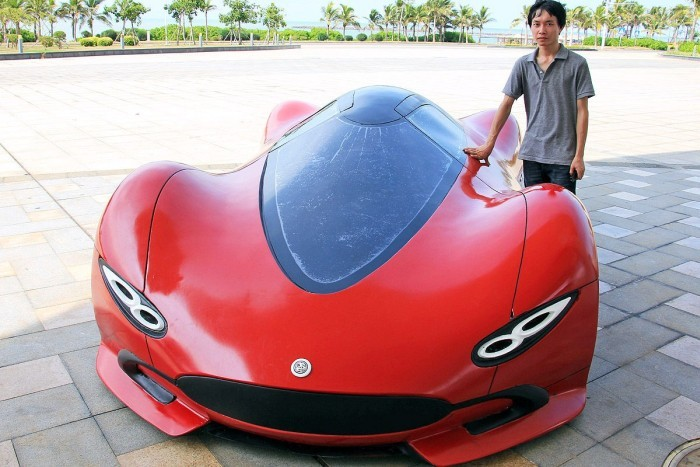 Суперкар своими руками от китайского мастера (14 фото)