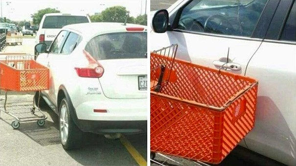 Как научить кретина правильно парковаться (13 фото)