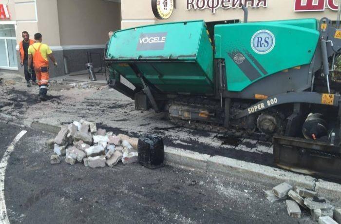 Ремонт тротуара на Пречистенке затянулся (4 фото)