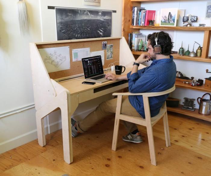 Трансформация письменного стола в стол-бар (5 фото)