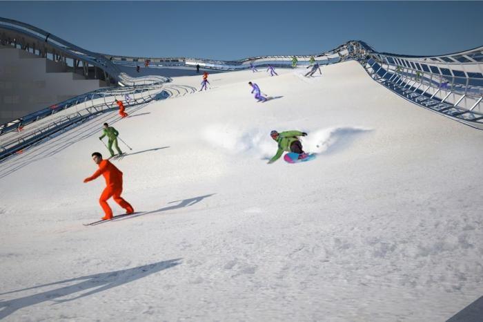 С порога на сноуборд: проект жилого дома с горнолыжным спуском на крыше (8 фото)
