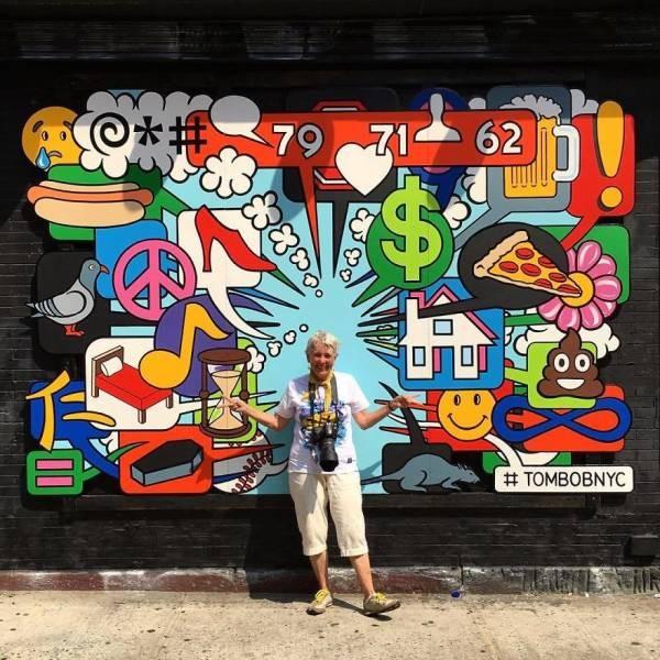 Яркие граффити на улицах Нью-Йорка (28 фото)