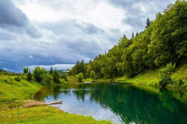Уникальное озеро Сарва в Башкирии (14 фото)