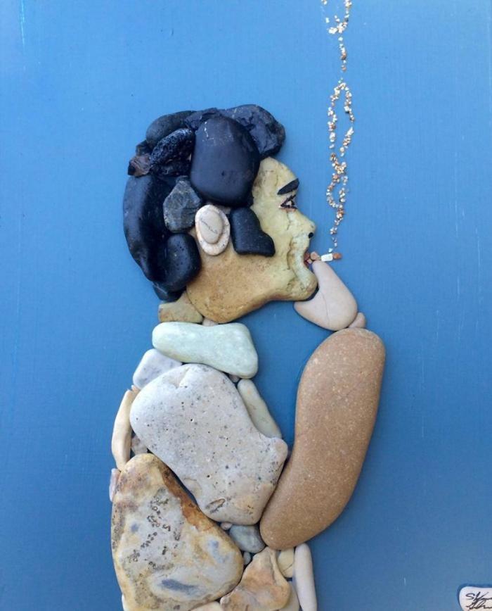 Удивительно реалистичные картины из камней (31 фото)