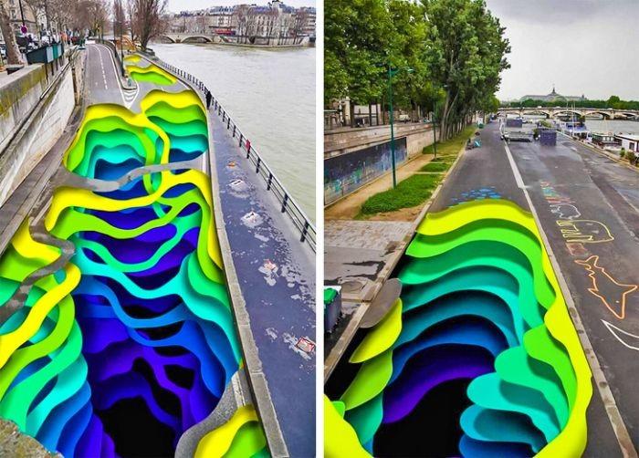 Трехмерные работы уличных художников (18 фото)