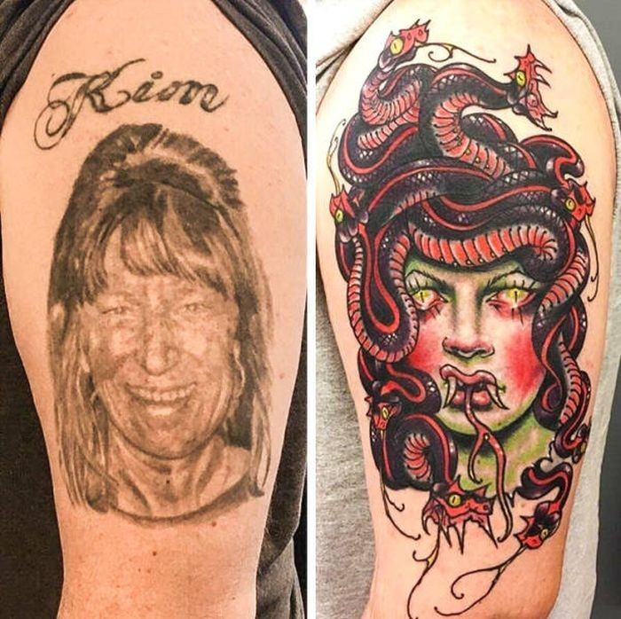 Исправление неудачных татуировок (17 фото)