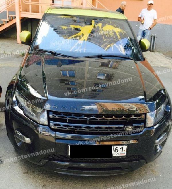 Владелец автомобиля обнаружил его изуродованным (7 фото)