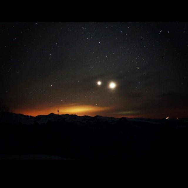"""Астрономическое явление """"Небесный поцелуй"""" (9 фото)"""