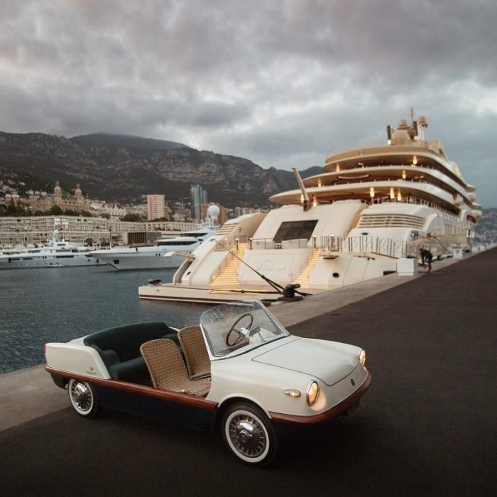 Fiat 500 Spiaggina - пляжный транспорт для магната (17 фото)