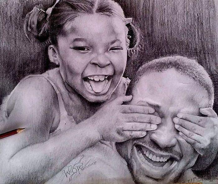 Мальчик из Нигерии создает гиперреалистичные рисунки (17 фото)