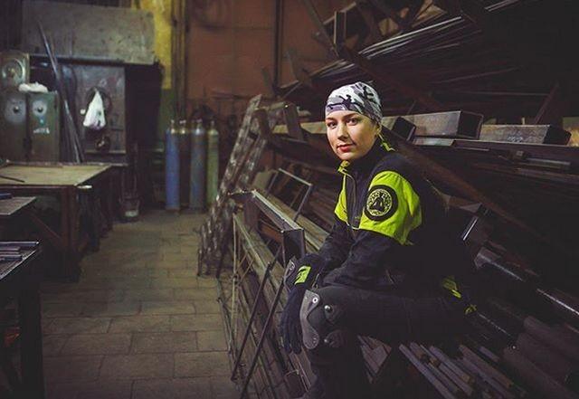 Профессиональная сварщица из Москвы (14 фото)