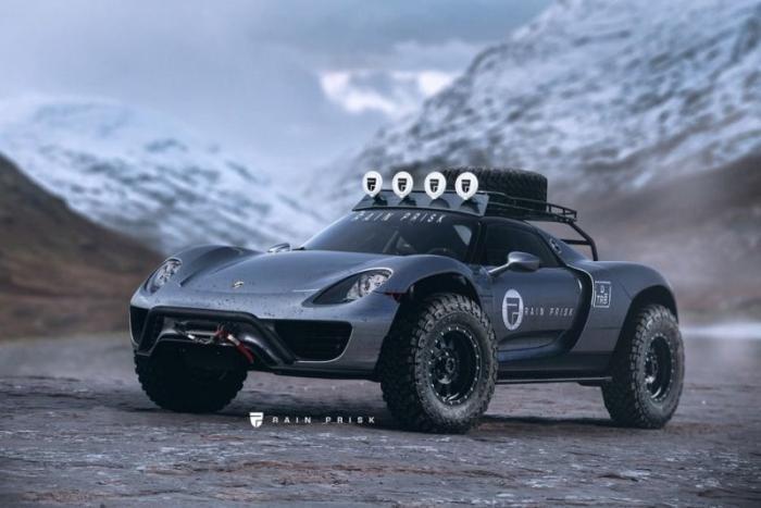 Дизайнер превращает суперкары во внедорожники (8 фото)