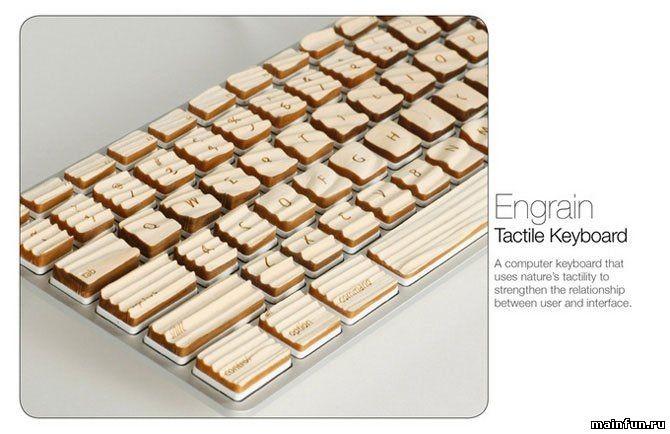 Деревянная рельефная клавиатура (7 фото)
