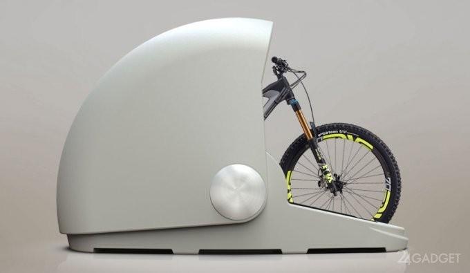 Велосипеды предлагают помещать в специальные капсулы (7 фото + видео)