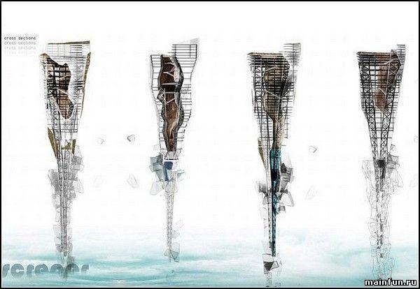 Подводные небоскребы из мусора (5 фото)