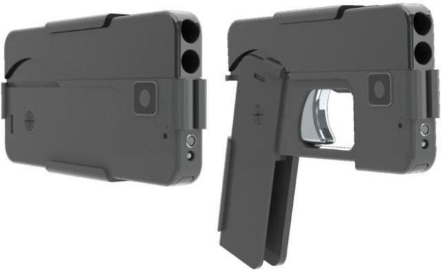 Необычный пистолет в виде смартфона (6 фото)