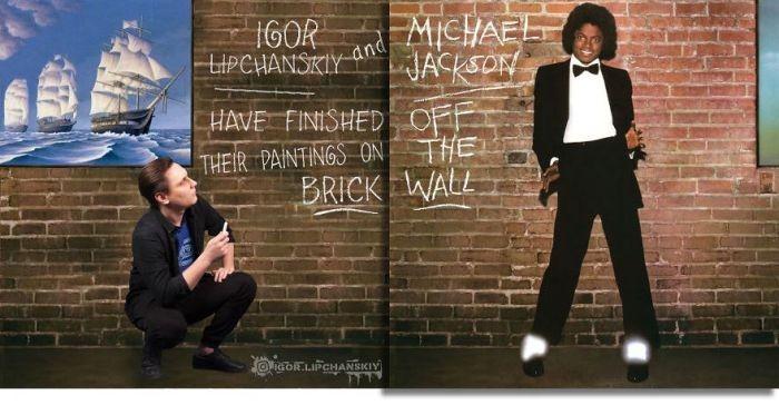 Фотошопер добавляет себя на обложки музыкальных альбомов (2 фото)