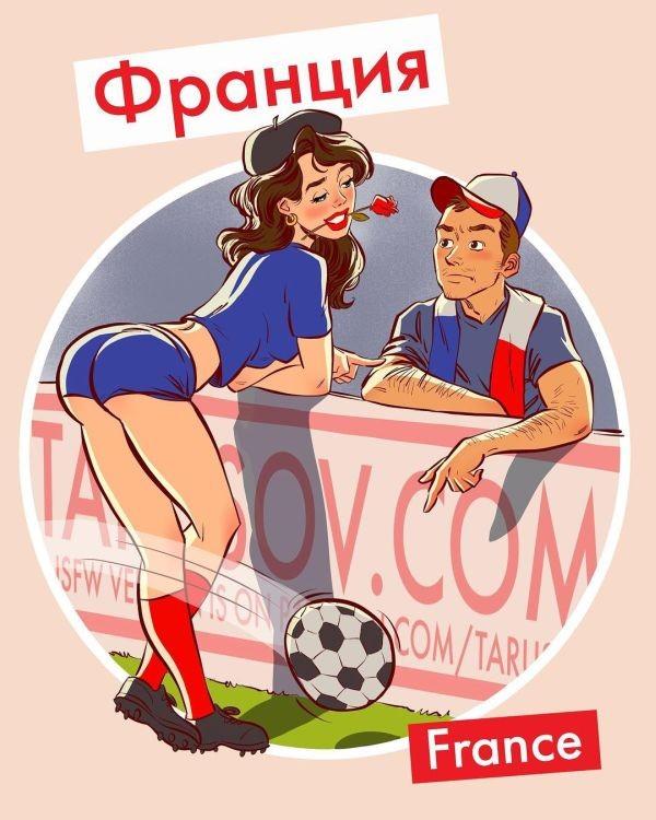 Футбольный пинап от российского художника-иллюстратора (13 фото)