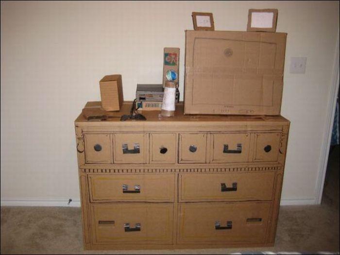 Мебель из картона (16 фото)