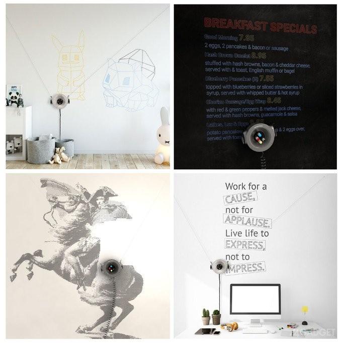 Невероятный робот Scribit рисует на стёклах и стенах (13 фото + видео)