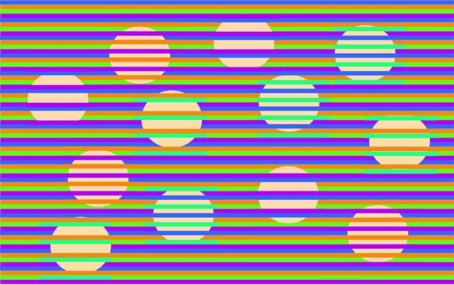 """Оптическая иллюзия """"Конфети"""": какого цвета круги? (3 фото)"""