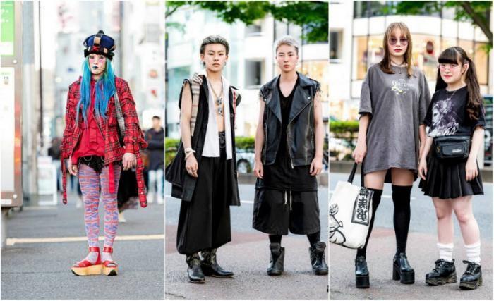 Модные персонажи на улицах Токио (23 фото)