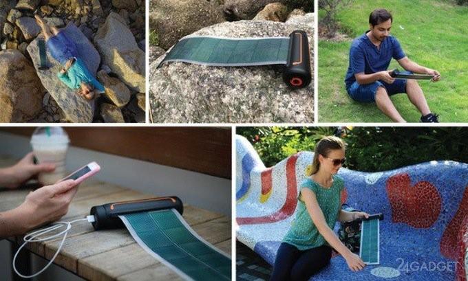 Solar Scroll — солнечная батарея-рулон для путешественников (9 фото)