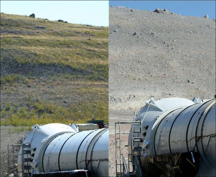 Испытания ракетного двигателя (3 фото)