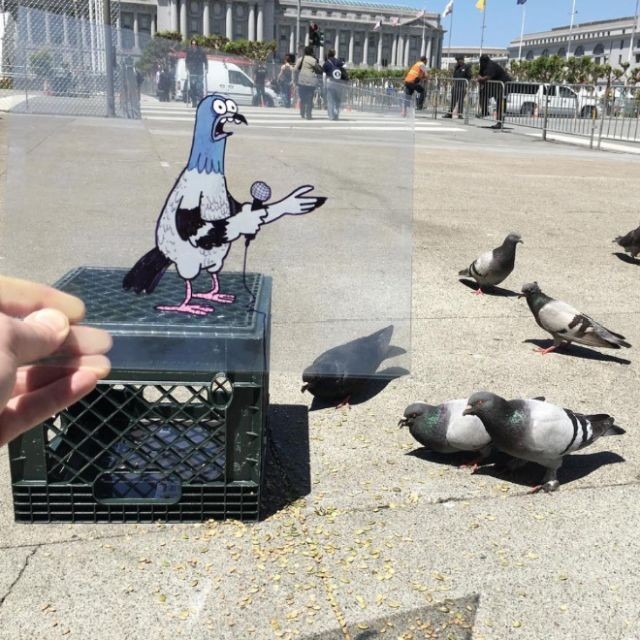 Креативные рисунки, дополняющие реальность (20 фото)