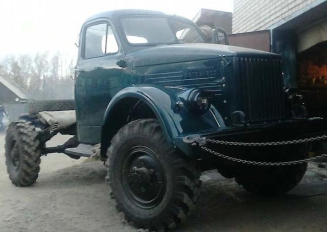 Восстановление грузовика ГАЗ-63 (11 фото)