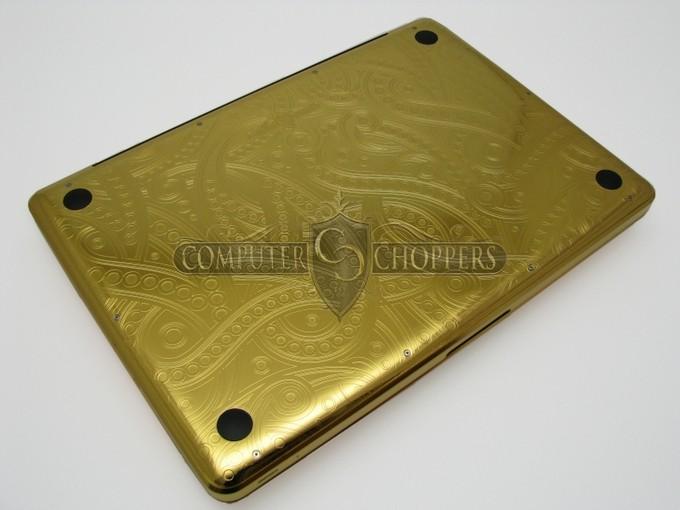 Макбук из золота от Computer Choppers (11 фото)
