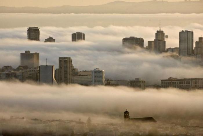 Знаменитый туман в Сан-Франциско (9 фото)