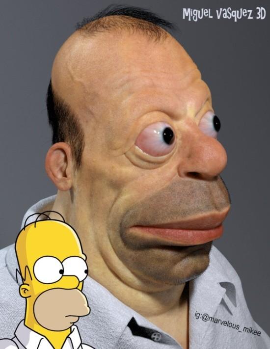 Как бы выглядел в реальной жизни Гомер Симпсон (5 фото)