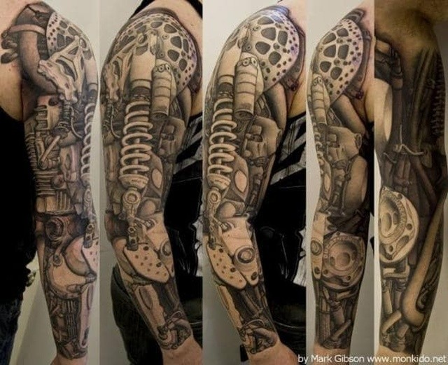Необычные татуировки в стиле стимпанк (38 фото)
