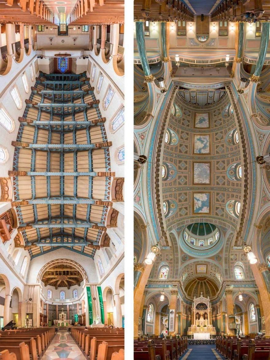 Панорамные снимки храмов от входа до алтаря