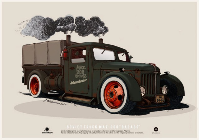 Потрясающие авто художника Андрея Ткаченко (30 фото)