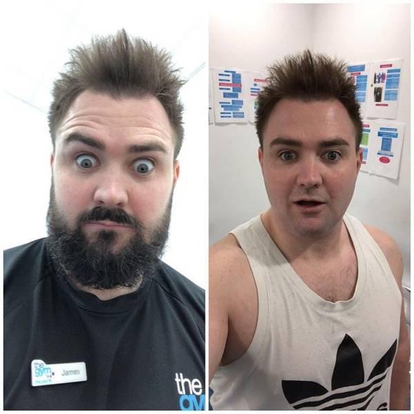 Лучше с бородой или без? (19 фото)