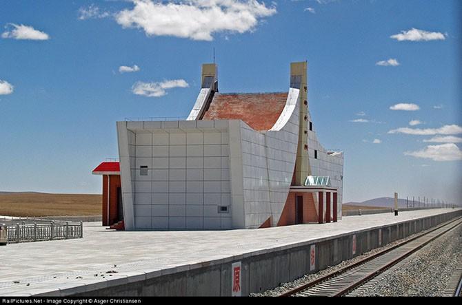 Строительство железной дороги в Тибет (41 фото)