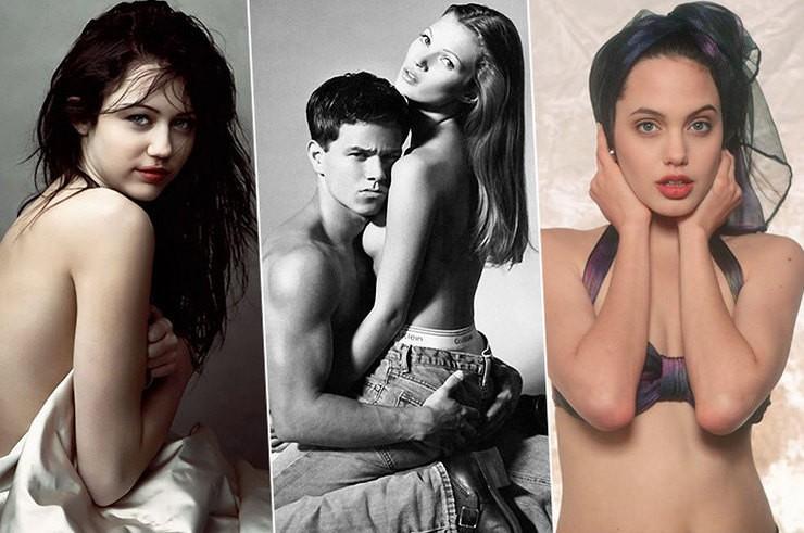 Откровенные фотографии знаменитостей в молодости