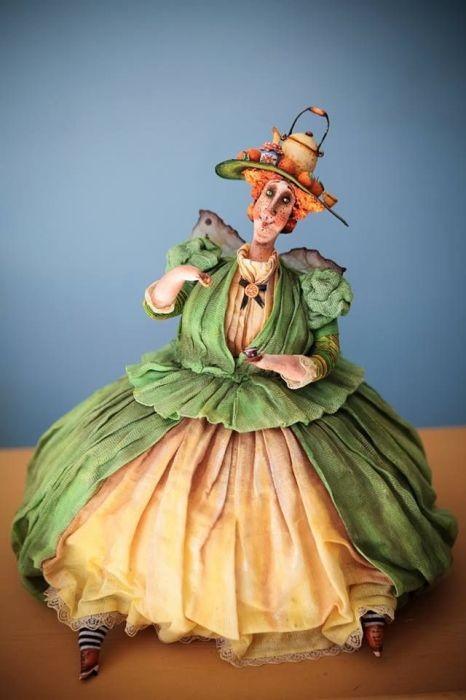 Милые толстушки из папье-маше от русской рукодельницы