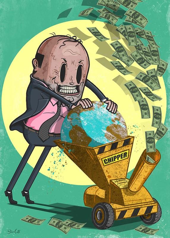 15 злых, но откровенных картинок о том, до чего нас довели алчность и капитализм